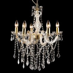 Marie Therese 5 Light Crystal Chandelier - Allure | Buy Lights