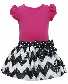 * TODDLER GIRLS 2T-4T * Fuchsia-Pink Black White Chevron Stripe Spangle Eyelash Ruffle Dress FU2HA, Fuchsia, Bonnie Jean Toddler Girls 2T-4T Special Occasion, Flower Girl Social Party Dress Bonnie Jean http://www.amazon.com/dp/B00KTOKPI4/ref=cm_sw_r_pi_dp_eALKtb0T3TDXA3VJ