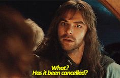 kili from the hobbit gif   haha his face in the last one!! :)