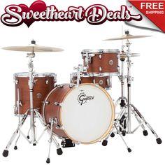 Gretsch Catalina Club Jazz 4-Piece Shell Pack Drum Kit  Satin Walnut Glaze