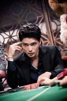 Kim Jaejoong - Triangle (drama) typical story of the bad guy who fall in love with the innocent girl and start to change . But he's a great actor and also his role suits him so much , cute drama !