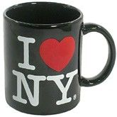 CitySouvenirs.com - Black Classic I Love NY Mug, $5.50 (http://www.citysouvenirs.com/black-classic-i-love-ny-mug/)Classic I Love NY Mugs   Displaying the classic I Heart NY logo on both sides, this classic I Love New York mug is a perfect gift for the NYC aficionado in your life. The mug's interior and exterior are white in color. These popular New York mugs are standard size at 11oz. Our Classic I Heart NY mugs make great New York gifts.