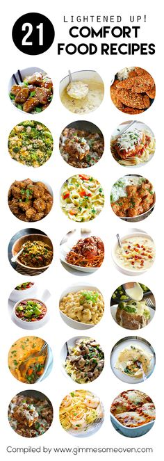 21 Lightened-Up Comfort Food Recipes - a stellar collection of recipes from food bloggers | gimmesomeoven.com