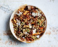 Herby Barley Salad with Butter-Basted Mushrooms