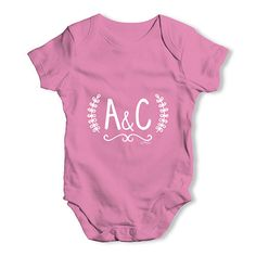 Personalised Wedd...  Rock In Style With Twisted Envy creative Art, Personalised Gifts, funny t-shirts & more,     http://twistedenvy.com/products/personalised-wedding-initials-baby-unisex-baby-grow-bodysuit?utm_campaign=social_autopilot&utm_source=pin&utm_medium=pin