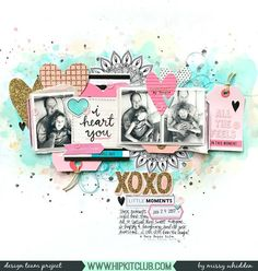 DT layout for featuring the 2018 January Hip Kits 💗Product Focus on the Main Squeeze Ephemera 😍 Love Scrapbook, Scrapbook Journal, Scrapbook Sketches, Scrapbook Page Layouts, Scrapbook Cards, Scrapbook Rooms, Crate Paper, Smash Book Pages, Hip Kit Club