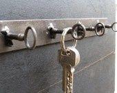 porte clés design metal acier industriel