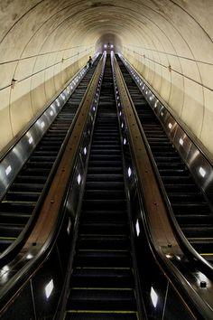 Wheaton Station/Washington Metro - longest escalators in the Western Hemisphere - Wheaton, MD