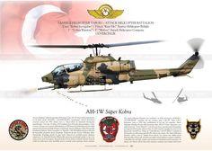 """AH-1W """"Süper Kobra"""" TÜRK KARA KUVVETLERI JP-1864"""