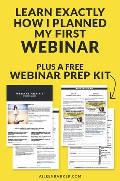 Learn exactly how I planned my first webinar! Plus a free webinar prep kit for bloggers and entrepreneurs looking for a some guidance.