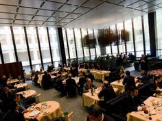 The Four Seasons is a New American cuisine restaurant in NYC located at 99 East 52nd Street, in the Seagram Building in Midtown Manhattan.