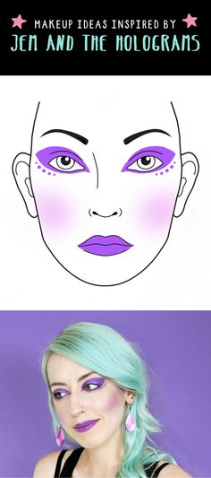 Jem and the Holograms inspired makeup ideas.