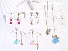 14KGFネックレス・ピアス #moanajewelry #モアナジュエリー #moana #モアナ #HOAPILIbymoanajewelry #HOAPILI #ホアピリ#14kgf #天然石 #seashell #seastar #starfish #beach #sea #ocean #aloha #アシンメトリーピアス #earrings #ネックレス #necklace  #jewelry #ジュエリー #アクセサリー #mermaid