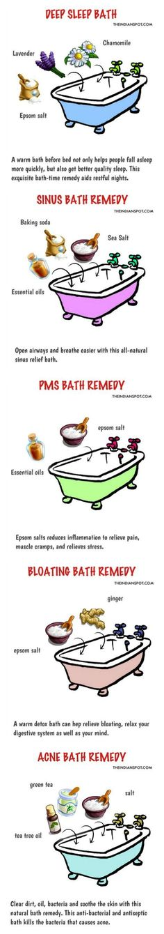 Perfect Bath Home Remedies with Essential Oils The post Bath Home Remedies with Essential Oils… appeared first on Healthy Tips . Natural Home Remedies, Natural Healing, Herbal Remedies, Health Remedies, Sinus Remedies, Psoriasis Remedies, Sleep Remedies, Natural Detox, Holistic Remedies