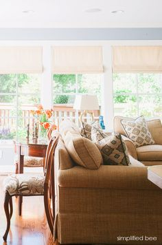 California casual-chic living room // cristin bisbee priest of simplified bee #interiordesign