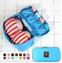 2014 New Women's Beautician Bra/Underwear Organizer Bags Traveling Bag Cosmetic Cases Makeup Bag Free Shipping $7.64
