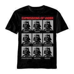 Star Wars Expressions of Vader Men's T-Shirt Large