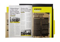 We have created the Amnesty International Hong Kong Annual Report 2010 into a file folder. Different cases and activities were grouped and sent to the donators. Not only showing reports in this folder, also giving out the message about protect human right…