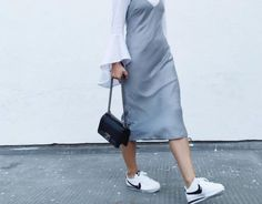7 super-chic outfits that prove you can wear sneakers to work