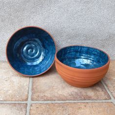 Pair of noodle bowls ......hand thrown terracotta