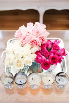 Candles and flowers. Always great for dressing up a room!