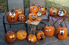 Painted pumpkins, Halloween