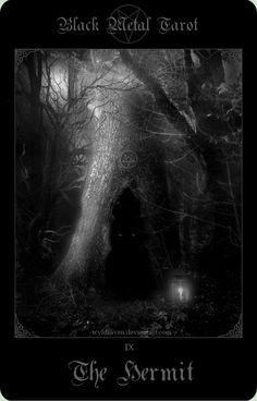Black Metal Tarot 6 by wyldraven on DeviantArt