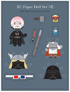 Image result for free printable paper doll star wars cut out clothes