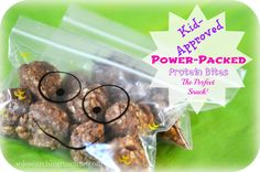 This is the PERFECT protein-packed power snack. Totally kid-approved!! QUICK - EASY - DELICIOUS!! My kids think they're no-bake cookies! I love them for a post-workout snack.
