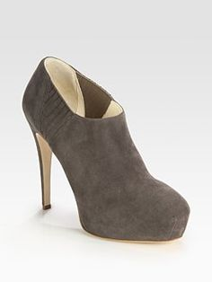 Brian Atwood - Nolita Suede Platform Ankle Boots