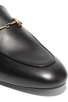 c8645d46127 Gucci - Princetown Horsebit-detailed Leather Slippers - Black