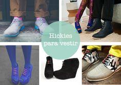 Una forma fácil de ponerte y quitarte las deportivas: llegan a España los hickies. De mil colores y requete bonitistas.