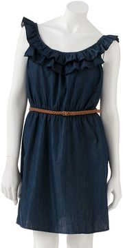 ShopStyle: Kohl's Lily rose ruffled chambray dress - juniors
