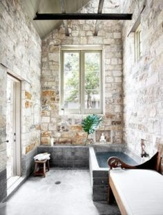 wonderful stone bathroom