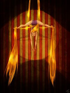 Aerial Rapunzel by Bonka-chan