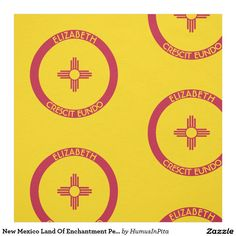 New Mexico Land Of Enchantment Personalized Flag Fabric