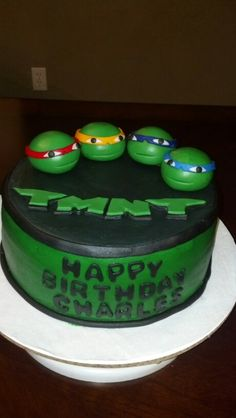 Ninja turtle cake!! Too cool! Deb's