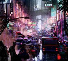 ArtStation - Future City, Lincoln Hughes