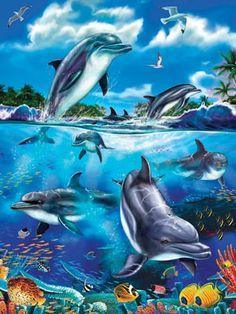 dolphin fantasy | Dolphin Fantasy Tray