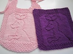 Free patterns for all kinds of the cutest bibs and washcloths. I've made a lion and penguin and would love to do more!