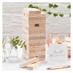 Ginger Ray Build A Memory Building Blocks Guest Book Beautiful Botanics : Target On Your Wedding Day, Fall Wedding, Rustic Wedding, Dream Wedding, Wedding Ideas, Wedding Ceremony, Perfect Wedding, Handmade Wedding, Diy Wedding Games