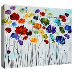 kid painting on canvas, floral - Google Search