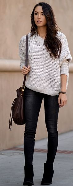 Soft Sweater Fall Street Style Inspo by Hapa Time