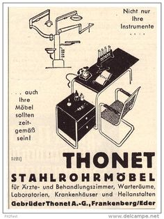Thonet 1938 advertisement