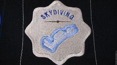 Купить Нашивка патч Парашютный спорт эмблема Подарок мужчине парашютисту - подарок мужчине