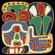 Mayan Design 7 http://cindysembroiderydesigns.com/Cultural-Art-Collection-5.html