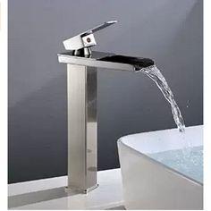 Tall Brushed Nickel Waterfall Bathroom Basin Faucet Vanity Sink Mixer Tap Brass #ZOVAJONIA