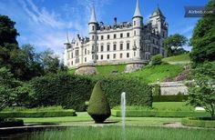 "Dating back to the early 1300s, and once home to both the Earls and Dukes of Sutherland, Dunrobin Castle rightly calls itself ""a true fairytale."" Considering that it also happens to be the largest castle in Scotland's Northern Highlands, with 189 available rooms, the place accommodates at least 16 and costs a whopping $8,301 a night."