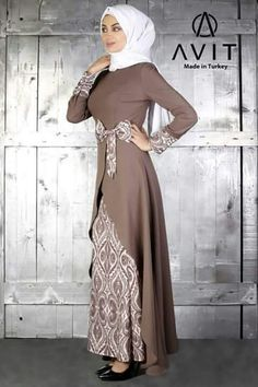 Shop Silk party wear designer kurti in red color online from India. Modern Hijab Fashion, Muslim Women Fashion, Batik Fashion, Islamic Fashion, Abaya Fashion, Latest African Fashion Dresses, Women's Fashion Dresses, Dress Batik Kombinasi, Batik Dress