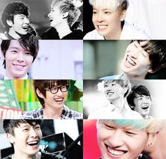 Donghae's smile vs. Eunhyuk's smile. Love them both! ♡
